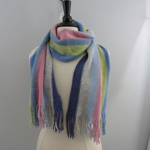Talbots Wool Blend Made In Italy multi scarf